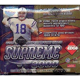2000 Collector's Edge Supreme Football Hobby Box