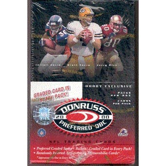 2000 Donruss Preferred QBC Football Hobby Box