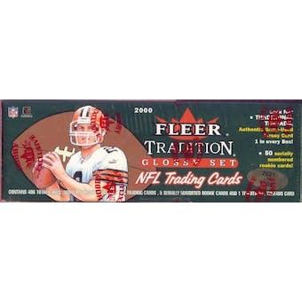 2000 Fleer Tradition Glossy Football Factory Set (Box)