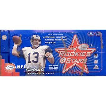 2000 Leaf Rookies & Stars Football Hobby Box