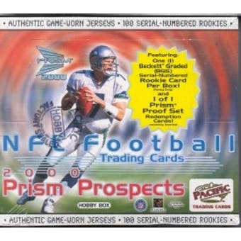 2000 Pacific Prism Prospects Football Hobby Box