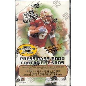 2000 Press Pass Football Hobby Box