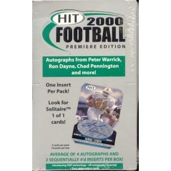 2000 Sage Hit Football Hobby Box