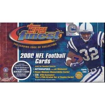 2000 Topps Finest Football Jumbo Box