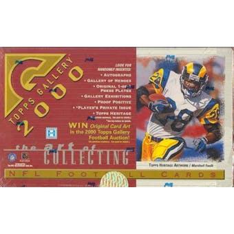 2000 Topps Gallery Football Hobby Box