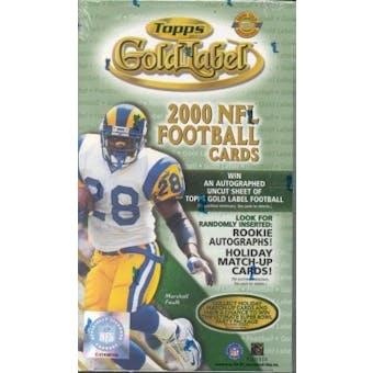 2000 Topps Gold Label Football HTA Box