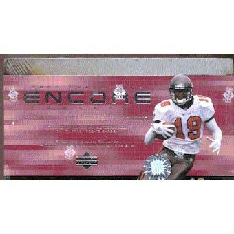 2000 Upper Deck Encore Football Hobby Box