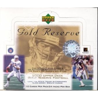 2000 Upper Deck Gold Reserve Football Box