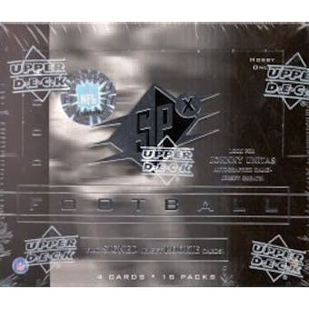 2000 Upper Deck SPx Football Hobby Box