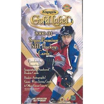 2000/01 Topps Gold Label Hockey Hobby Box