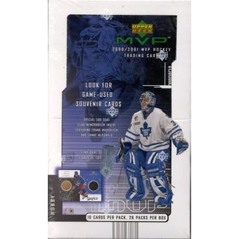 2000/01 Upper Deck MVP Hockey Hobby Box