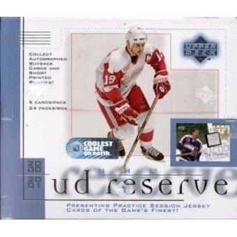 2000/01 Upper Deck Reserve Hockey Hobby Box