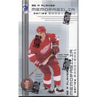 2000/01 Be A Player Memorabilia Hockey Hobby Box