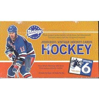 2000/01 Upper Deck Vintage Hockey Hobby Box