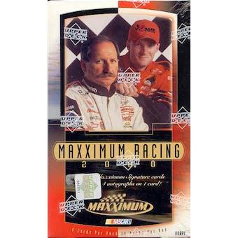 2000 Upper Deck Maxximum Racing Hobby Box
