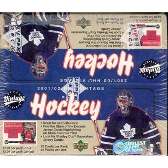 2001/02 Upper Deck Vintage Hockey 24 Pack Box