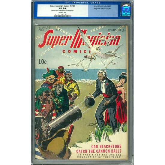 Super Magician Comics #v2 #7 CGC 4.0 (OW) Edgar Church (Mile High) Pedigree *0111268008*