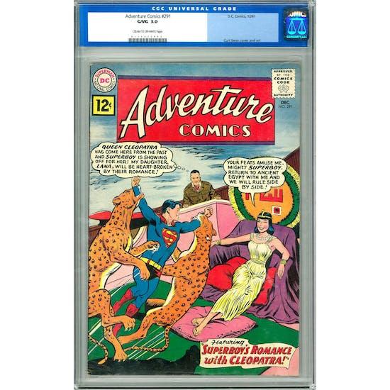 Adventure Comics #291 CGC 3.0 (C-OW) *0119652002*