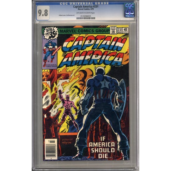 Captain America #231 CGC 9.8 (OW-W) *0120284025*