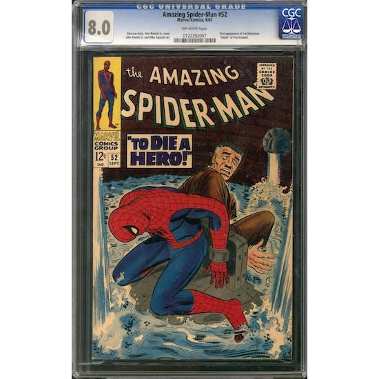 Amazing Spider-Man #52 CGC 8.0 (OW) *0122392007*