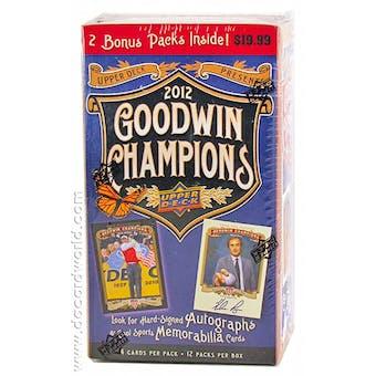 2012 Upper Deck Goodwin Champions 12-Pack Box