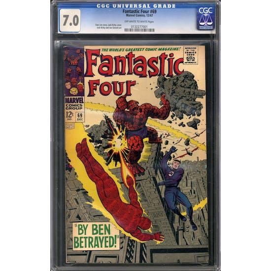 Fantastic Four #69 CGC 7.0 (OW-W) *0132277001*