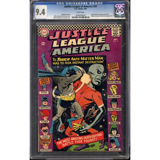Justice League of America #47 CGC 9.4 (OW) *0160728024*
