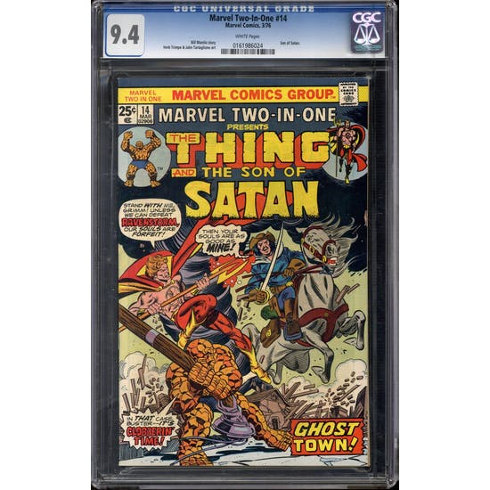Marvel Two-In-One #14 CGC 9.4 (W) *0161986024*