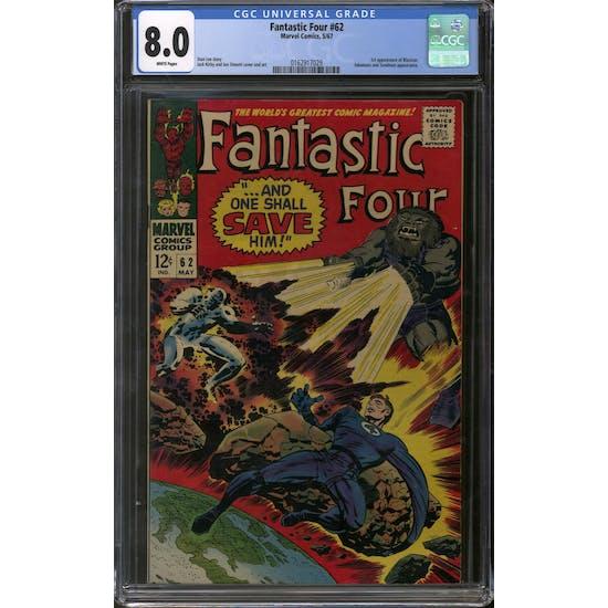 Fantastic Four #62 CGC 8.0 (W) *0162917029*