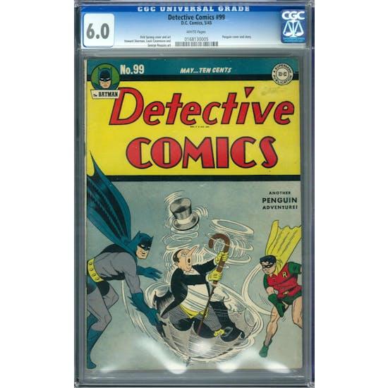 Detective Comics #99 CGC 6.0 (W) *0168130005*