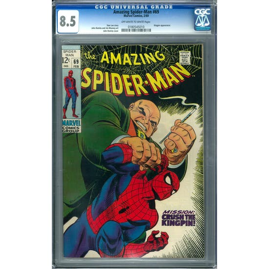 Amazing Spider-Man #69 CGC 8.5 (OW-W) *0180545010*