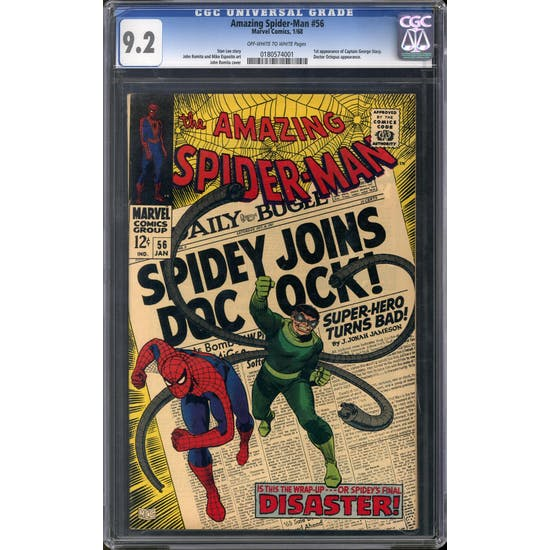 Amazing Spider-Man #56 CGC 9.2 (OW-W) *0180574001*