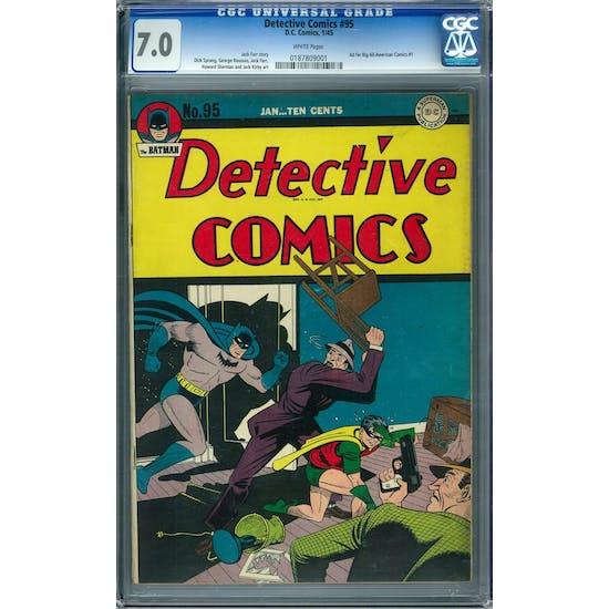 Detective Comics #95 CGC 7.0 (W) *0187809001*