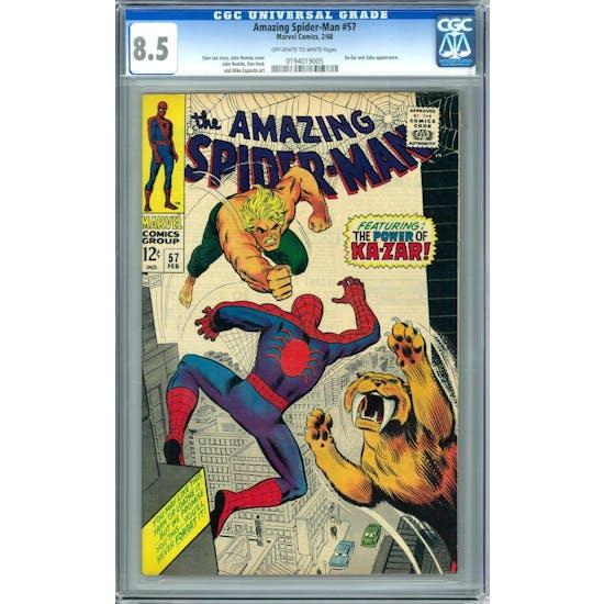 Amazing Spider-Man #57 CGC 8.5 (OW-W) *0194019005*