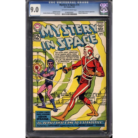 Mystery in Space #75 CGC 9.0 (OW-W) *0194555001*