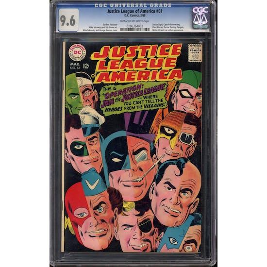 Justice League of America #61 CGC 9.6 (C-OW) *0196364002*