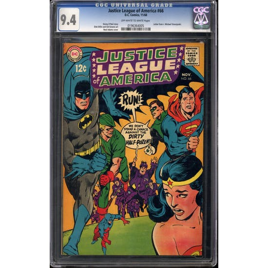 Justice League of America #66 CGC 9.4 (OW-W) *0196364005*