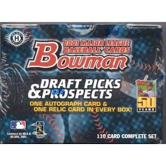 2001 Bowman Draft Picks & Prospects Baseball Factory Set (Box)