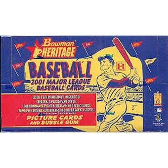 2001 Bowman Heritage Baseball Hobby Box (Reed Buy)