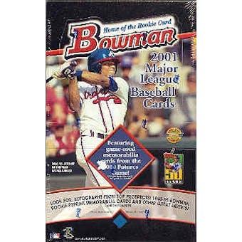 2001 Bowman Baseball Jumbo Box