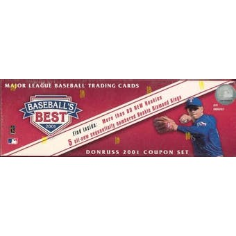 2001 Donruss Baseball's Best Silver Baseball Factory Set (Box)