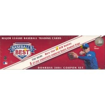 2001 Donruss Baseball's Best Bronze Baseball Factory Set (Box)
