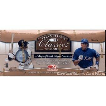 2001 Donruss Classics Baseball Hobby Box