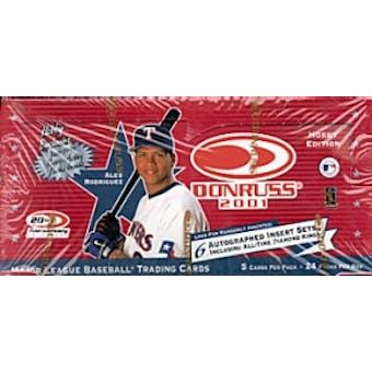 2001 Donruss Baseball Hobby Box