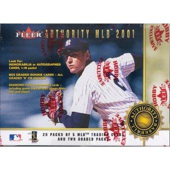 2001 Fleer Authority Baseball Hobby Box