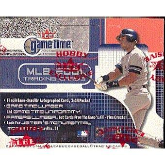 2001 Fleer Game Time Baseball Hobby Box