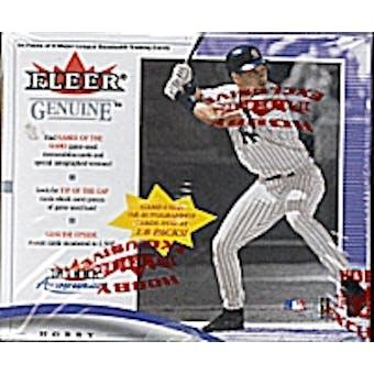 2001 Fleer Genuine Baseball Hobby Box
