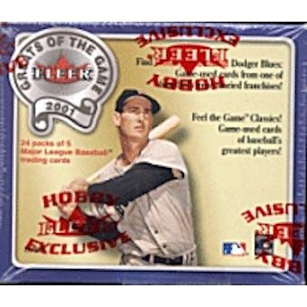 2001 Fleer Greats Of The Game Baseball Hobby Box