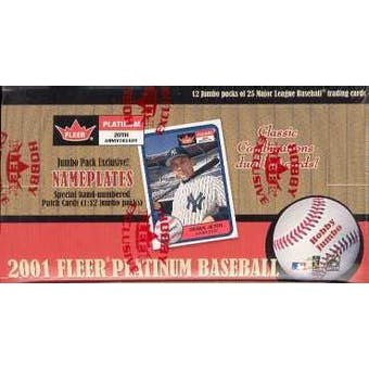 2001 Fleer Platinum Baseball Jumbo Box