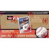 2001 Fleer Platinum Baseball Hobby Box (Reed Buy)